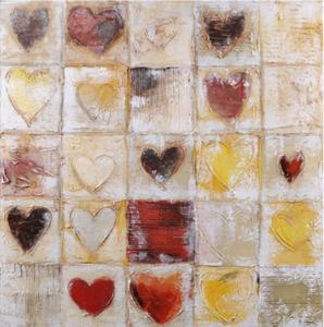 Hearts - 80 x 80 cm