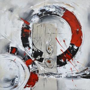 Circles of life - 120 x 120 cm