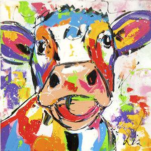 Happy Cow- 60 x 60 cm