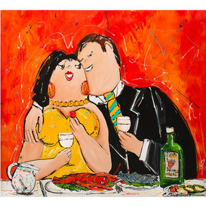 Wine and Diner- 120 x 100 cm