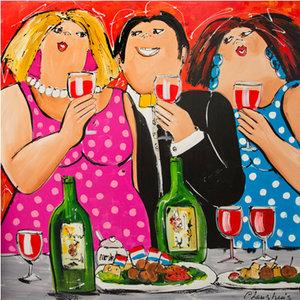 Wine and Company- 120 x 100 cm
