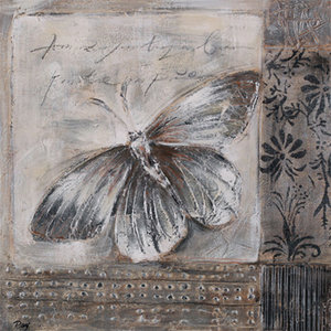 White Butterflies - 100 x 100