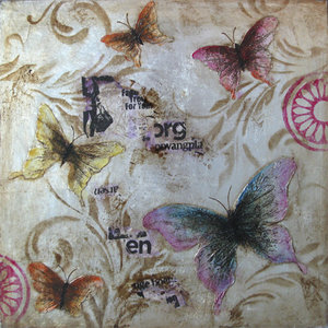 Glossy Butterflies  - 60 x 60