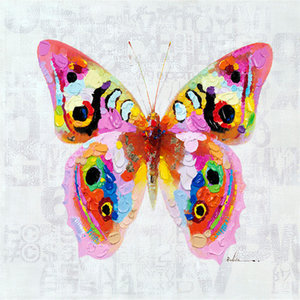 Colorful Butterflies   - 120 x 120