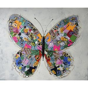 Colorful Butterflies II - 120 x 120