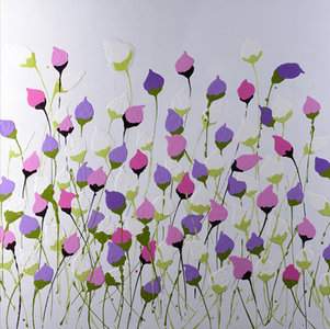 Dancing Flowers - 100 x 100