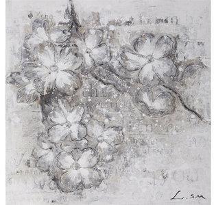 Flowers in Grey II - 60 x 60