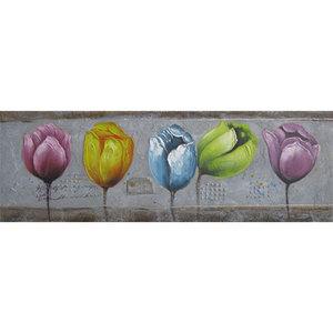 Stylized Tulips - 150 x 50