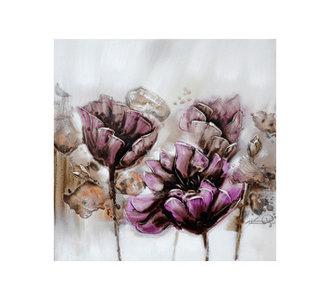 Purple Tulips II - 100 x 100 cm