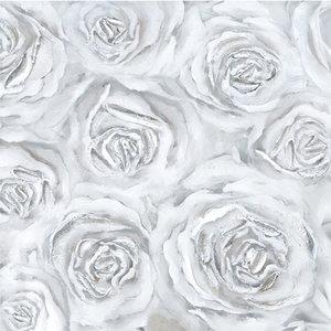 White Roses - 120 x 120 cm