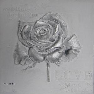 Silver Love - 60 x 60  cm