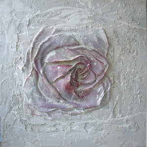Purple White - 60 x 60  cm