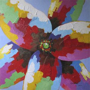 Mixed Colours - 100 x 100  cm