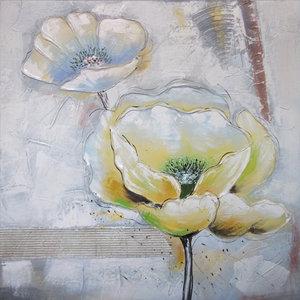 Artful Flowers II - 80 x 80 cm