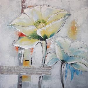 Artful Flowers - 80 x 80 cm