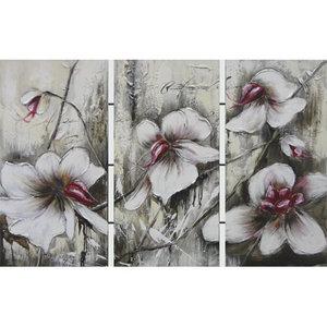 Oriental Flowers II - 50 x 100 x 3 cm