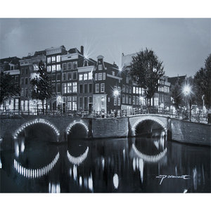 Amsterdam by Night - 120 x 100 cm