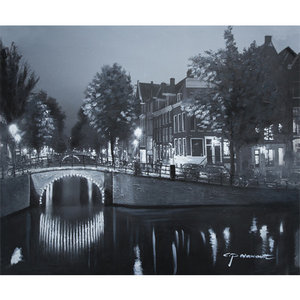 Amsterdam by Night II - 120 x 100 cm