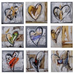 Nine Times Love - 90 x 90 cm