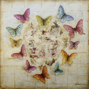 Butterfly Love  - 100 x 100 cm
