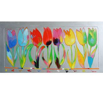 Prachtige Tulpen  -150x75 cm