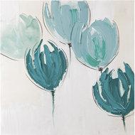 Turquoise-Flowers-II-60-x-60